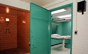 Photo prise en 2000 de la «Chambre de la mort» de la prison de Huntsville (Texas) où les exécutions par injection létale ont lieu.
