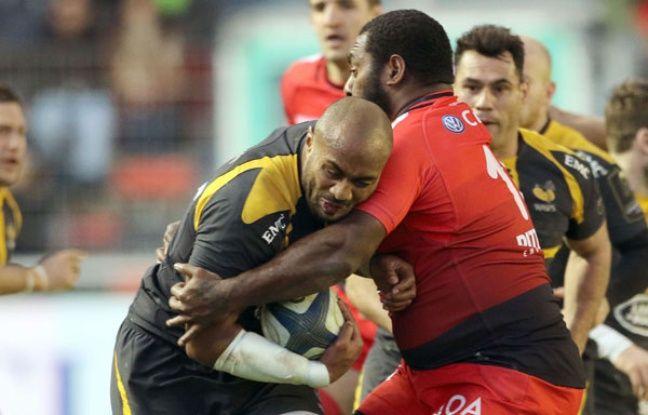 Un choc lors du match de H Cup entre Les Wasps et Toulon.