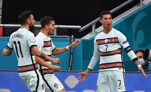 Cristiano Ronaldo, auteur d'un doublé lors de Hongrie-Portugal.