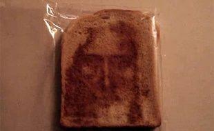 Jésus apparaît dans un toast