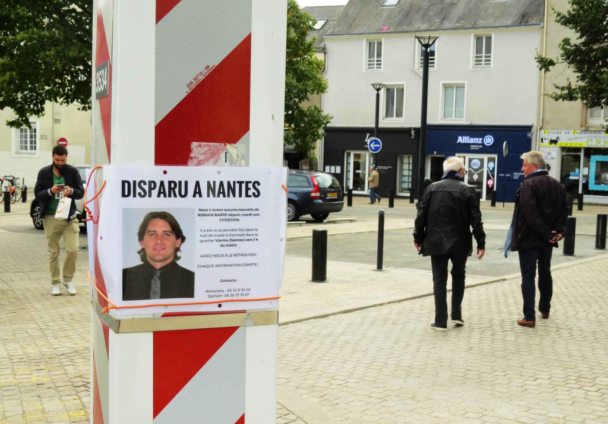 Des suspects avouent le meurtre de Romain Barré — Disparu à Nantes