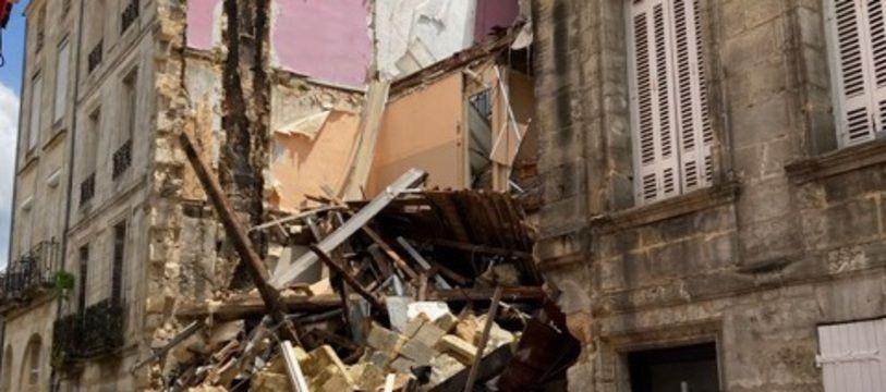 L'immeuble rue Planterose à Bordeaux qui s'est effondré était heureusement inoccupé.