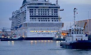 Le MSC Meraviglia doit être livré fin mai à Saint-Nazaire.