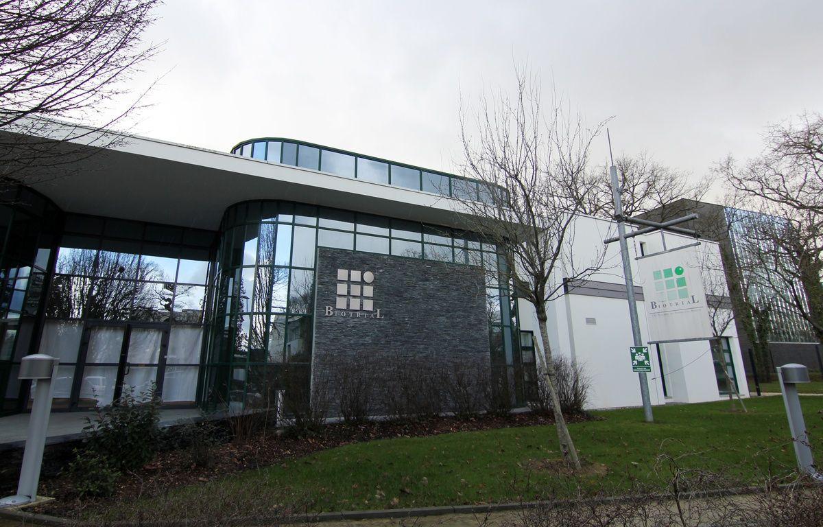 Vue extérieure des locaux de Biotrial à Rennes où six patients ont participé à un essai thérapeutique. – C. Allain / APEI / 20 Minutes