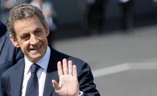 """Le patron des """"Républicains"""" (ex-UMP)Nicolas Sarkozy le 30 mai 2015 à Paris"""