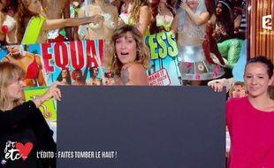 Daphné Bürki présente «Je t'aime, etc.» sur France 2.