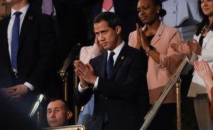 L'opposant vénézuélien Juan Guaido lors du discours sur l'état de l'union de Donald Trump, le 4 février 2020.