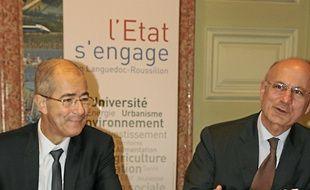 C.Bourquin (à g.) et P.de Bousquet.
