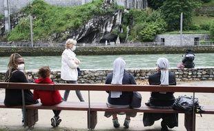 Le sanctuaire de Lourdes en période de coronavirus. Illustration.