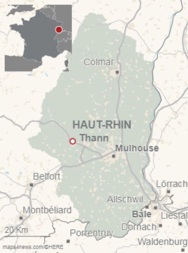 Les gendarmes ont eu recours à un hélicoptère équipé d'une caméra thermique pour localiser une culture indoor de cannabis à Thann (Haut-Rhin).