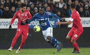 Racing club de Strasbourg, l'attaquant Stéphane Bahoken