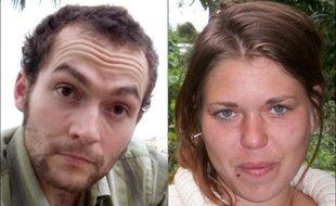 Photo montage datant de 22 septembre 2010 de Fannie Blancho et Jéremie Bellanger, deux Français tués en Bolivie à l'été 2010