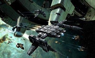 Des vaisseaux spatiaux dans
