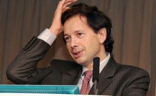 L'ancien patron de la société d'investissement Wendel, Jean-Bernard Lafonta, à Paris le 27 mars 2008