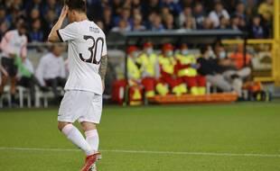 Lionel Messi lors de Bruges-PSG en Ligue des champions, le 15 septembre 2021.
