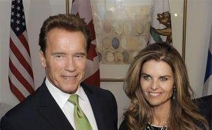 Le gouverneur de Californie, Arnold Schwarzenegger, et sa femme, Maria Shriver, lors du sommet mondial des gouverneurs sur le climat, qui s'est déroulé à Los Angeles le 2 octobre 2009.