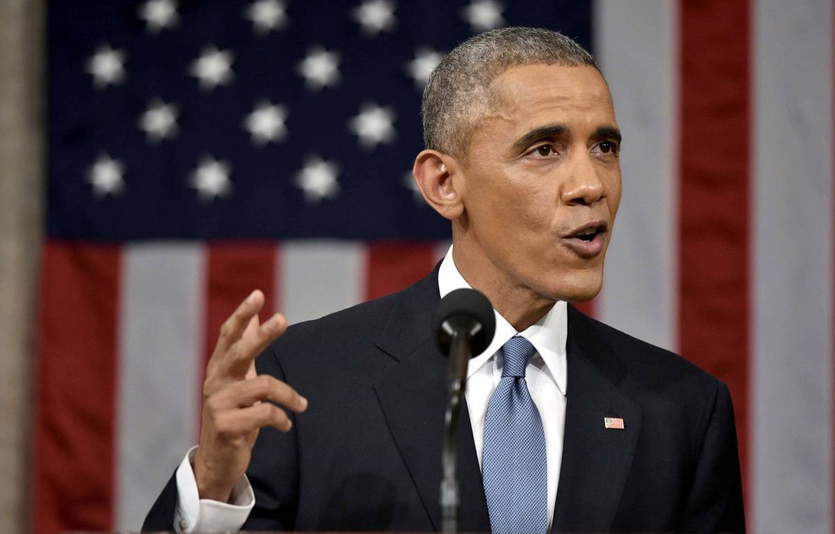 Barack Obama lors du discours sur l'état de l'Union, le 20 janvier 2015. – SIPA/SIPANY