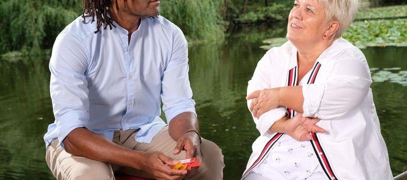 Christian Karembeu et Mimie Mathy dans «Joséphine, ange gardien».