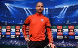Pep Guardiola, l'entraîneur du Bayern Munich, le 5 mai 2014, à Barcelone.