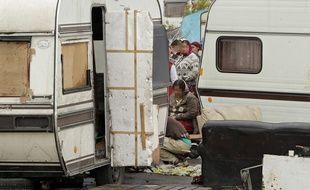 Un camp de Roms, à Lille (illustration).