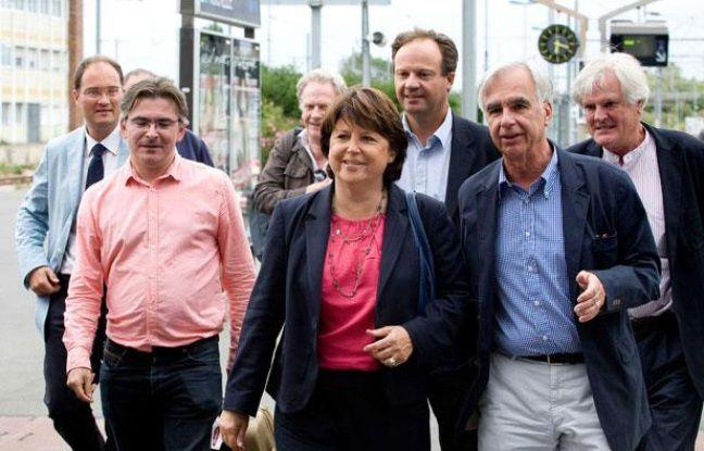 Martine Aubry arrive à La Rochelle, le jeudi 23 août 2012.