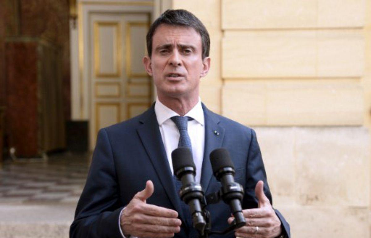 Le Premier ministre, Manuel Valls, s'adresse à la presse, le 30 juin 2016, à Matignon à Paris. – BERTRAND GUAY / AFP