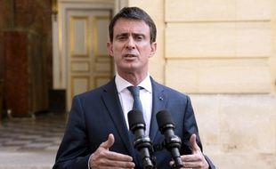 Le Premier ministre, Manuel Valls, s'adresse à la presse, le 30 juin 2016, à Matignon à Paris.