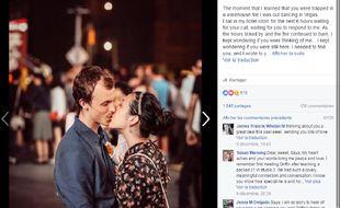 La fameuse photo recherchée et retrouvée par Saya grâce au réseau social. Capture d'écran de Facebook.