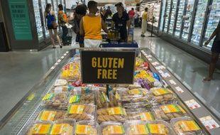 Pains et gâteaux sans gluten dans un supermarché de Harlem à New York aux États-Unis le 21 juillet 2017
