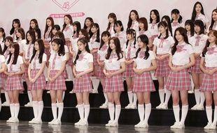 Les participantes de l'émission de divertissement sud coréen «Produce 48», 2018