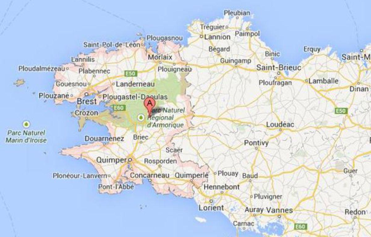 Finistère, carte – Capture d'écran Google Map