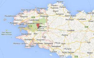 Finistère, carte