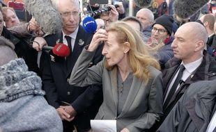 La ministre de la Justice, Nicole Belloubet, en visite au centre pénitentiaire de Vendin-le-Vieil, le 16 janvier 2018.