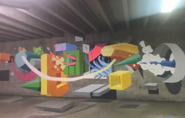 Une oeuvre exposée au festival international de street art Peinture Fraiche