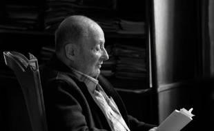 L'auteur et dramaturge français Michel Vinaver chez lui à Paris, le 13 octobre 2015