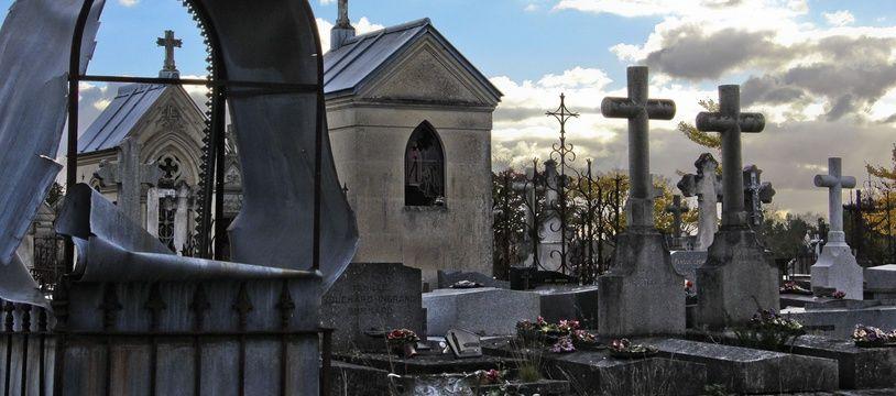 Illustration d'un cimetière