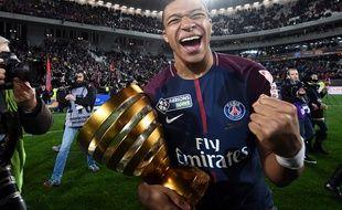 Kylian Mbappé a remporté la première Coupe de la Ligue de sa carrière.