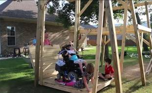Video il construit une balan oire g ante pour sa fille en - Balancoire 1 personne ...