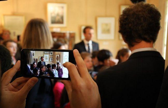 Emmanuel Macron pris en photo le 16 septembre 2017 à Marly-le-Roi.