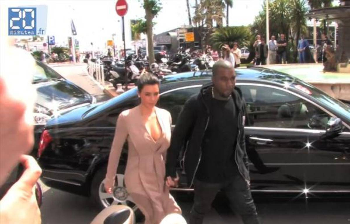 Cannes 2012: Kim Kardashian et Kanye West prennent du bon temps. – CAPTURE D'ECRAN / 20 MINUTES