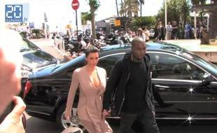 Cannes 2012: Kim Kardashian et Kanye West prennent du bon temps.