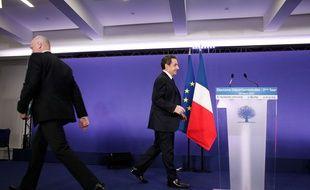 Le président de l'UMP Nicolas Sarkozy, le 29 mars 2015 à Paris.