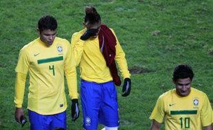 Les joueurs brésiliens après leur match nul contre le Venezuela, le 3 juillet 2011 lors de la Copa America.
