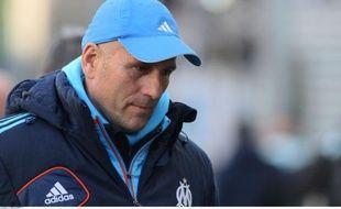 L'entraîneur de l'Olympique de Marseille, Elie Baup, le 24 février.