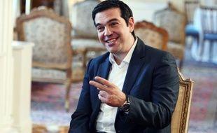 Le Premier ministre grec Alexis Tsipras, dans le palais présidentiel d'Athènes le 24 juillet 2015