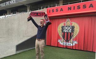 Bob Ratcliffe lors du rachat de l'OGC Nice par Ineos.