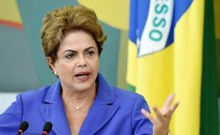 La présidente du Brésil, Dilma Rousseff, le 28 juillet 2015 à Brasilia