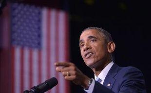 Barack Obama lors d'un discours à Knoxville dans le Tennessee, le 9 janvier 2015