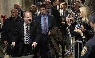 Harvey Weinstein à sa sortie du tribunal de Manhattan, le 13 février 2019.