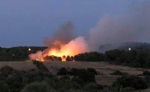 Le feu de Saint-Clément-de-Rivière a parcouru plusieurs hectares dimanche.